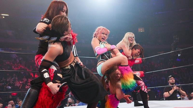 My1 Hana Kimura Stella Grey and Sumie Sakai vs Jenny Rose and Oedo Tai G1 Supercard