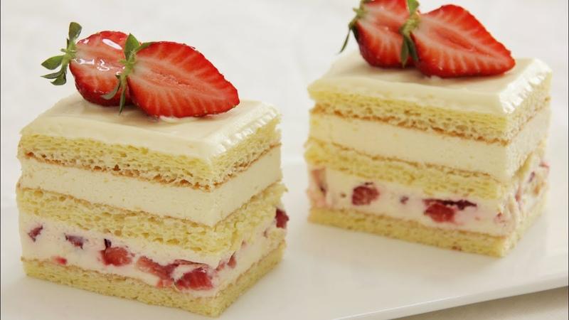 Cheese Cream Strawberry Cake 芝士奶油草莓蛋糕 Gâteau à la crème au fromage et aux fraises
