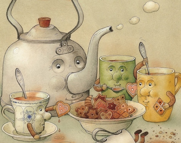 Один молодой одинокий чайник решил жениться... Один молодой одинокий чайник решил жениться, и все никак не мог выбрать, на ком же. Вот дама- кофейная, с длинным носом, одинокая и стройная, даже