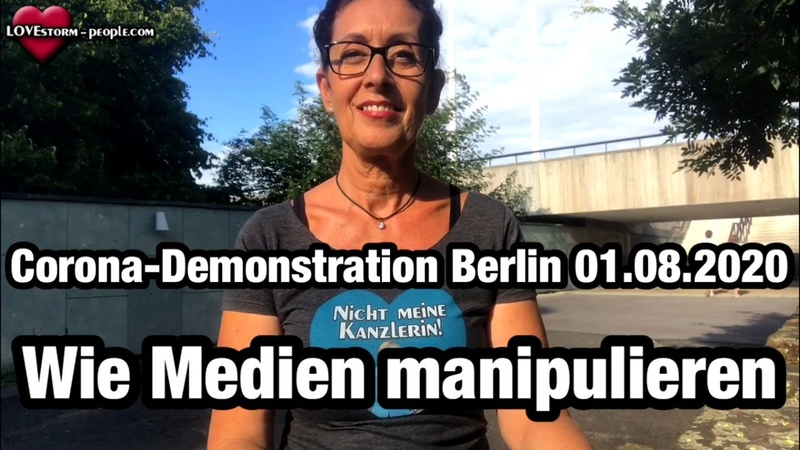 Corona Demonstration Berlin von Querdenken711 Wie Medien manipulieren