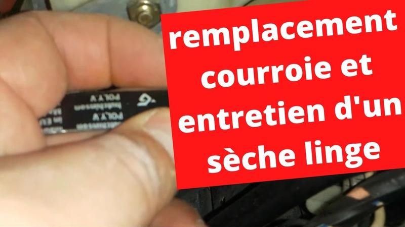 Remplacement courroie et entretien sur sèche linge Belt replacement and maintenance on dryer