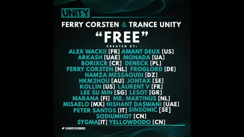 For my new single 'Free' I teamed up with more than 20 fans from all over the world to create the ultimate UNITY collaboration