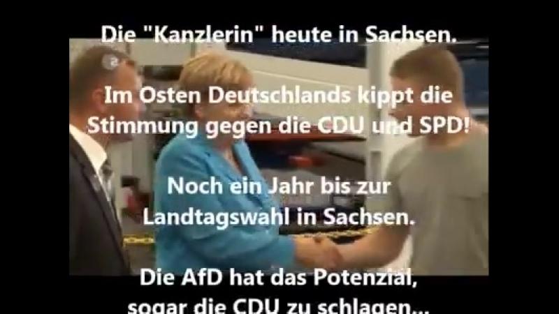 Merkel zu Besuch in Dresden