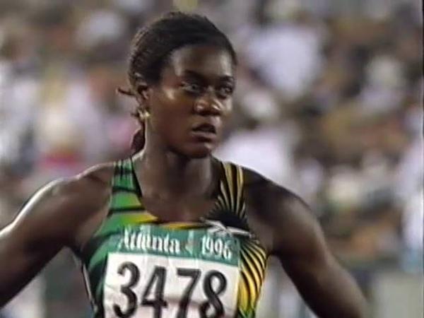 Women's 100m Final Atlanta Olympics 1996