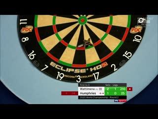 Jermaine Wattimena vs Luke Humphries  (PDC World Darts Championship 2020 / Round 2)