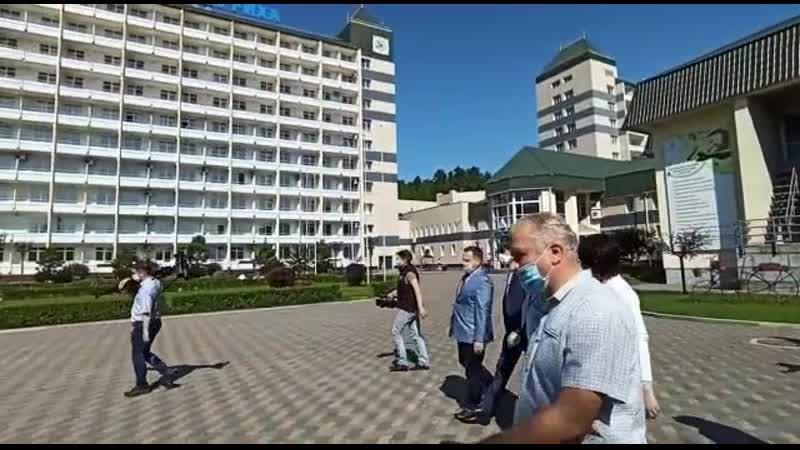 Визит Сергея Кравцова в Белокуриху (Алтайская правда)