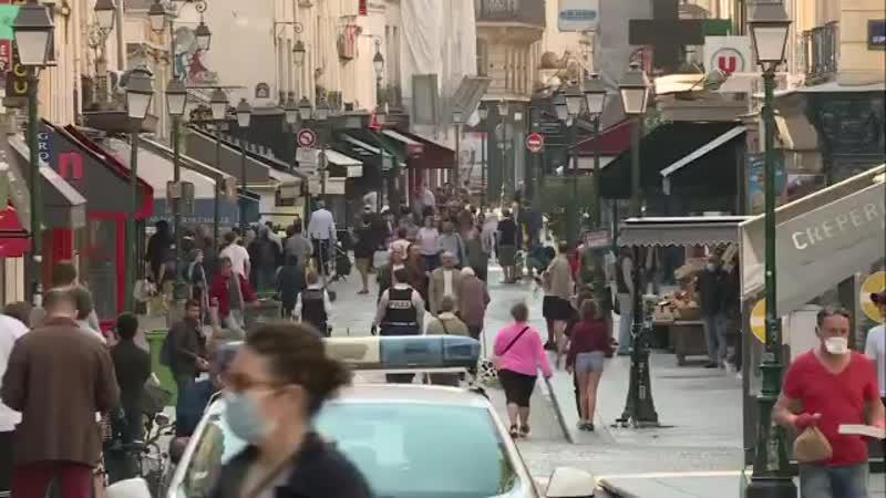 Pandémie de coronavirus Les habitants étaient de sortie ce matin dans la Rue Montorgueil mp4