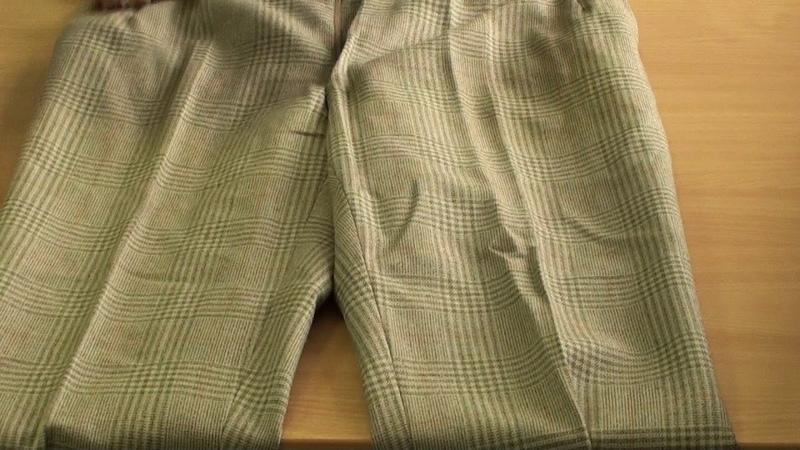 М28 (1). Мужские шерстяные светлые брюки