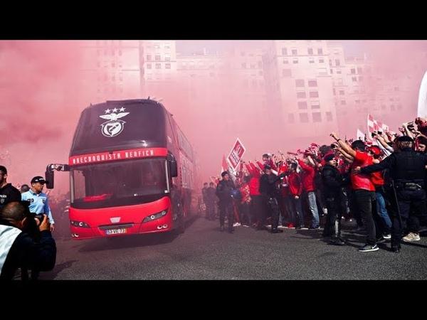 Видео нападения на автобус с игроками Бенфики