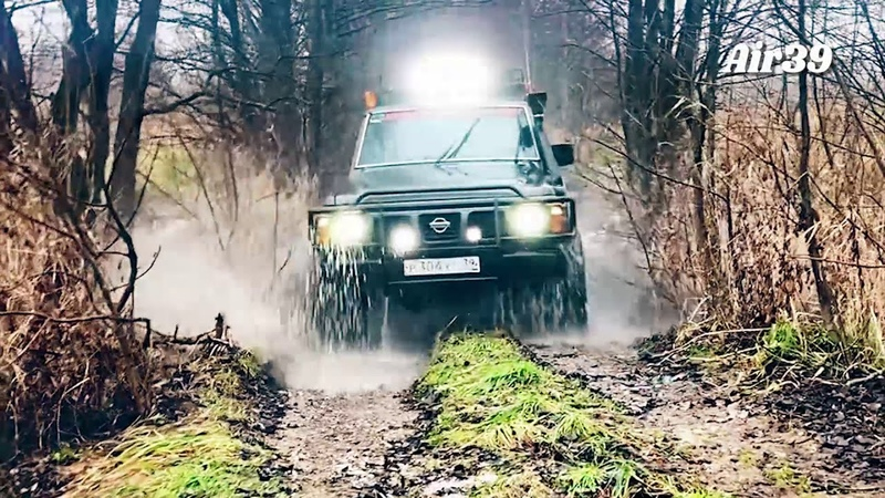Off-Road Офф-роуд Калининград, nissan patrol исполняет, съёмка с квадрокоптера с воздуха и из салона