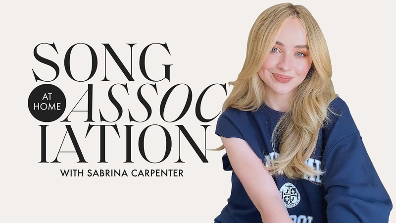 Sabrina Carpenter Sings Taylor Swift Ariana Grande The 1975 in a Game of Song Association ELLE
