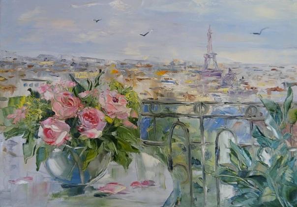 Художница Оксана Кравченко родилась в 1971 году в Новоуральске (Свердловская область