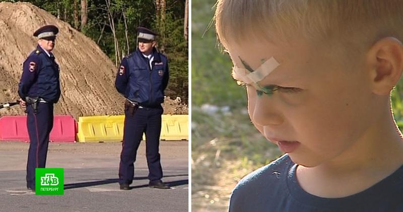 Герои с трассы как полицейские спасли жизнь упавшему на штырь ребенку