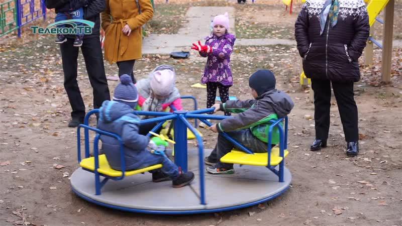 Открытие детской площадки по адресу ул.Ленина, 62е (Волжск)
