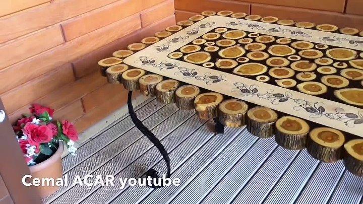 Столик со спилами Мастер класс от cemaL AÇAR