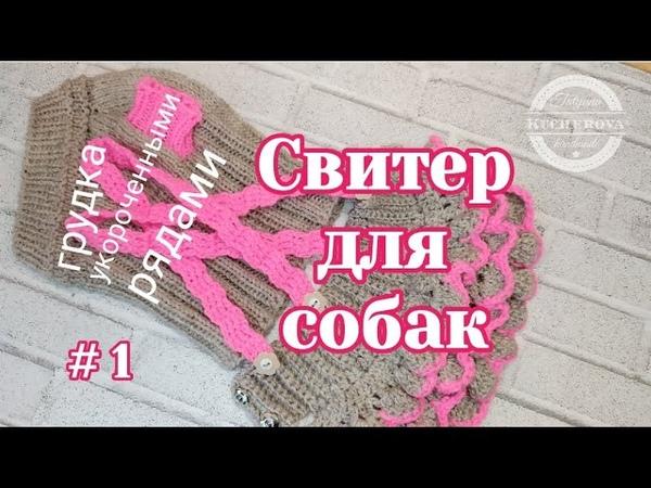 Свитер для собаки росток вязание спицами часть 1