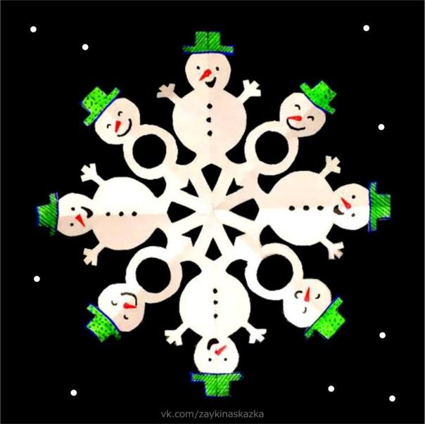 СНЕЖИНКИ-СНЕГОВИЧКИ Снежинка упала ко мне на ладошку,Её я согрею дыханьем немножко.Снежинка, ты в прятки решила игратьТебя на ладошке моей не