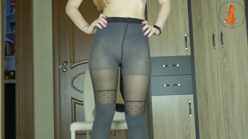 Pantyhose try on mix with RedHead Foxy short YT ver
