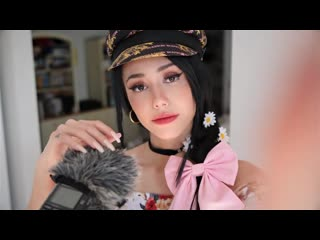 ASMR - mic petting wiff long nails whispering stuffs 2 u and some lens tapping