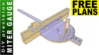 Making Precision Miter Gauge 👍  FREE PLANS Miter Gauge 👍 Don't Repeat My Mistakes