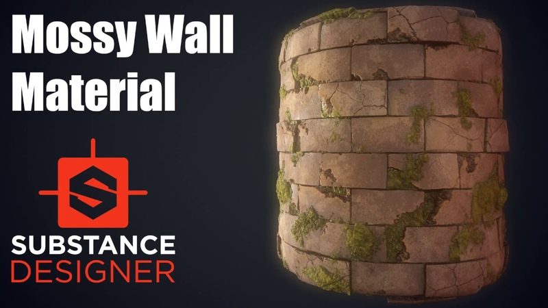 Substance Designer 9 Mossy Wall Material