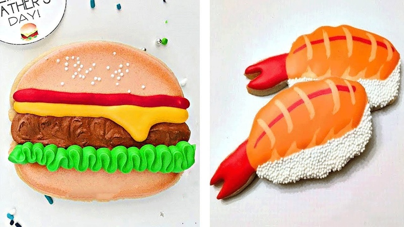 So Yummy Hamburger Cookies Decorating Ideas Quick Easy Cookie Compilation Tasty Cookies