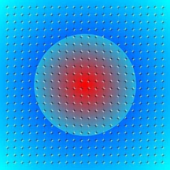 Фото машины обман зрения в цвете