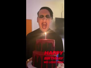 Marilyn Manson and his birthday cake (2020)