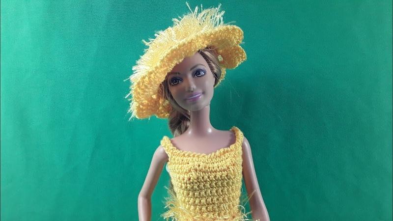 Урок вязания шляпки для Барби Мастер класс
