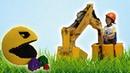 Илюшка научился управлять бульдозером Путешествие на выставку Лего LEGO Отель Мисс Кэти