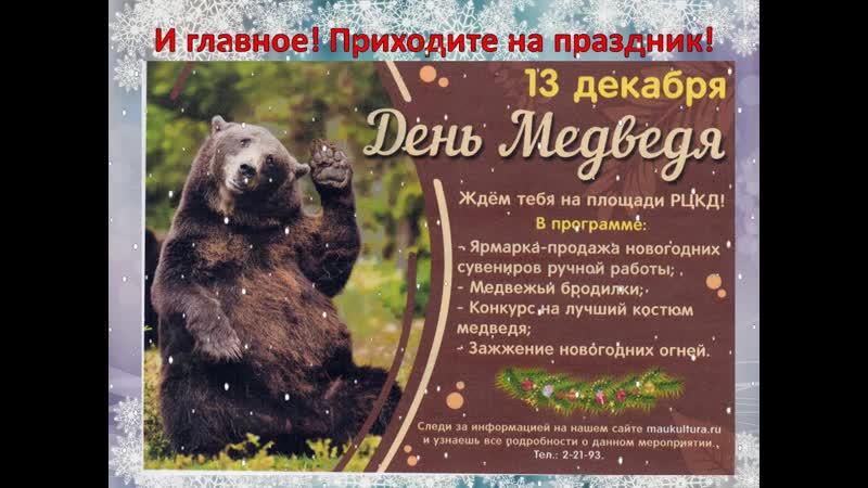 Новогодний привет от медведя