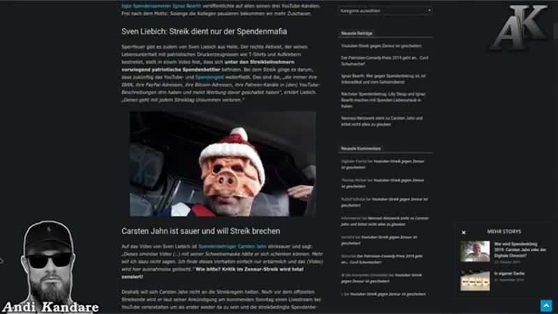 Sven Liebich Streik dient nur der Spendenmafia