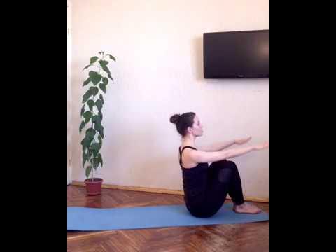 Pilates Mat - урок 1. Пилатес - тренировка базового уровня с разбором техники от Ксении Салазкиной