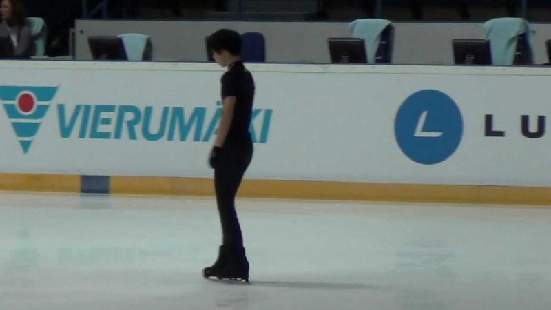 Finlandia Trophy 2012 Yuzuru HANYU FS practice