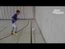 Fussballtraining Wand ab Zuspiele Ballkontrolle Technik