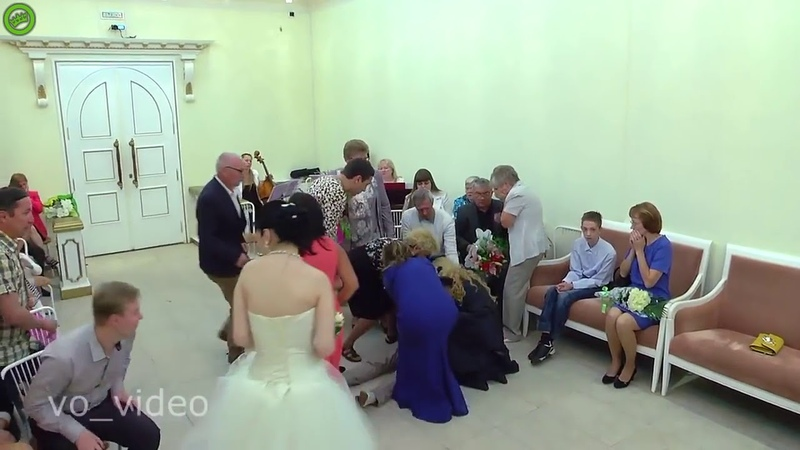 The groom fell during the wedding ceremony