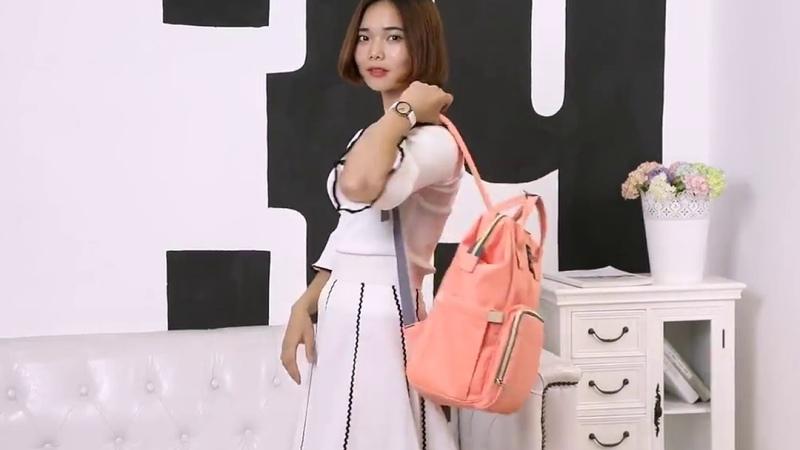 Рюкзак для мам в персиковом цвете | Lavochka Maryam