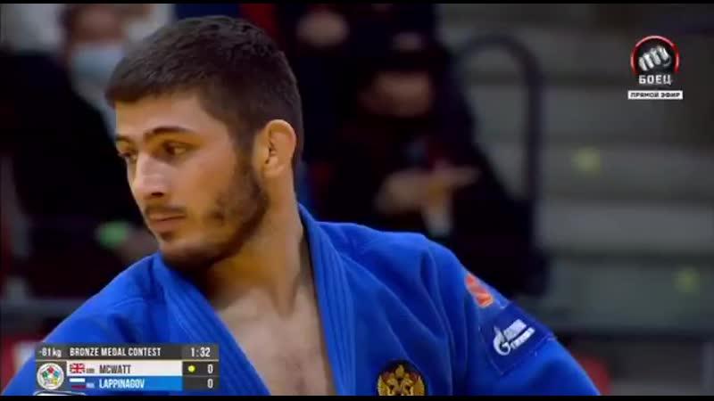 Аслан Лаппинагов выиграл бронзовую медаль во второй день турнира «Большого шлема» в Тель-Авиве.