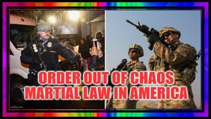 Martial Law In America ~ Order Out Of Chaos Divide Conquer 101