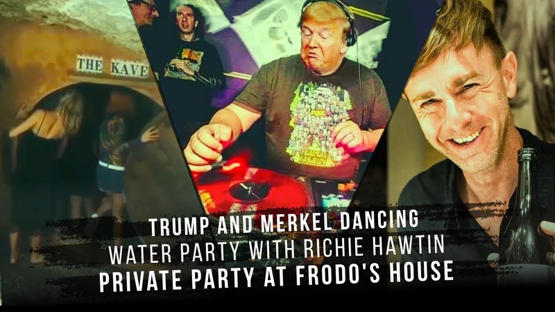 Trump and Merkel Techno Raver Water party with Richie Hawtin Private party at Frodo's house