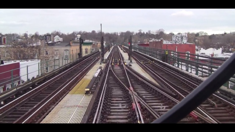 ᴴᴰ R42 J Train RFW Footage Wrong Railing out of Crescent Street Jamaica Center