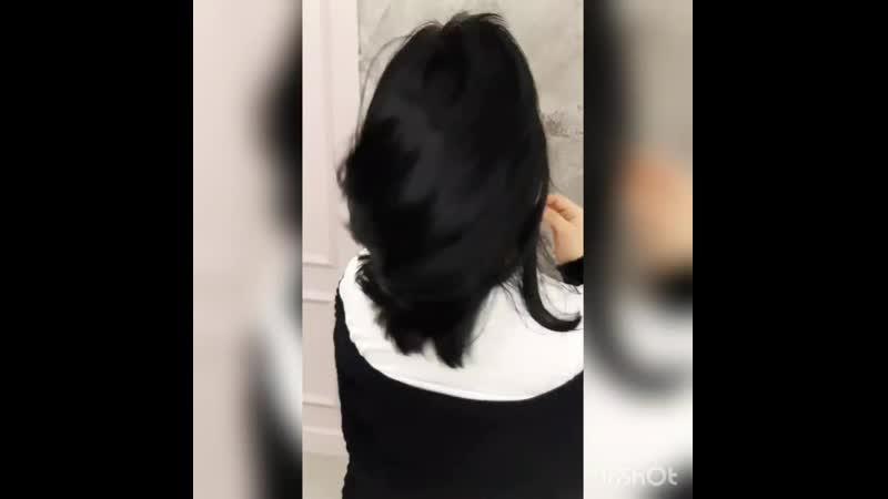 Стрижка. Женская стрижка на волосы средней длины. Топ стилист Вита Белоусова.