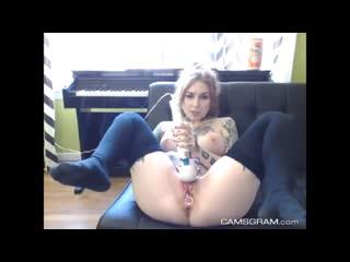 Pretty Big Breasted Camgirl With Pretty Face Fucked Herself [cam porn webcam веб