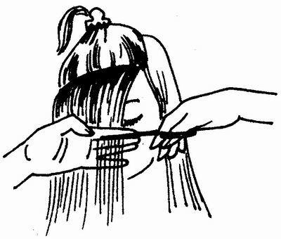 Как подстричь прямую чёлку самостоятельно. Прямая челка - это самый простой вид. Ширина её обычно зависит от ширины лба, густота- от предпочтений и густоты волос, пробор, по которому прядь для