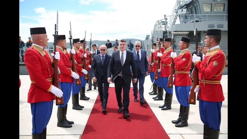 Predsjednik Republike Hrvatske Zoran Milanović doputovao u luku Tivat Crna Gora