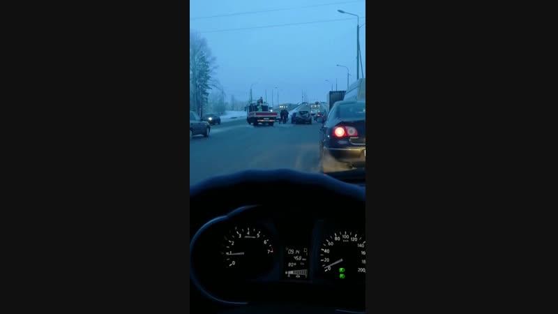 Последствия ДТП на ул 21 я Амурская 18 01 2019