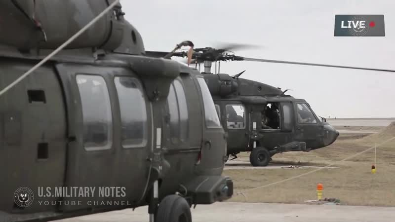 U S Army Conducts Large Scale Air Training With the CH 47 C