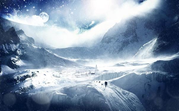 Снежный приговор От громадного межпланетного корабля отделилось несколько крошечных темных пятнышек и направились в сторону белой планеты, равномерно распределяясь по солнечной стороне.