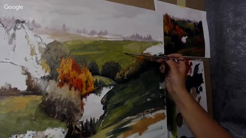 Пишем картину маслом Русский реализм Часть 1. Надежда Ильина (10)