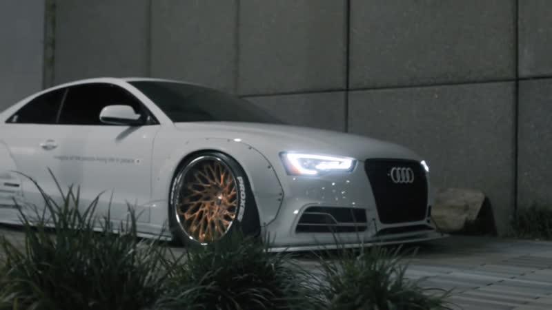 Audi S5 Liberty Walk Widebody Bagged Stance Squad